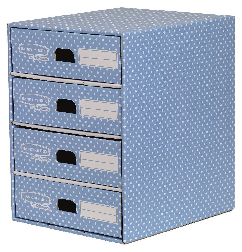 Image of Fellowes Bankers Box Style 4 Drawer Storage Unit - Blue.