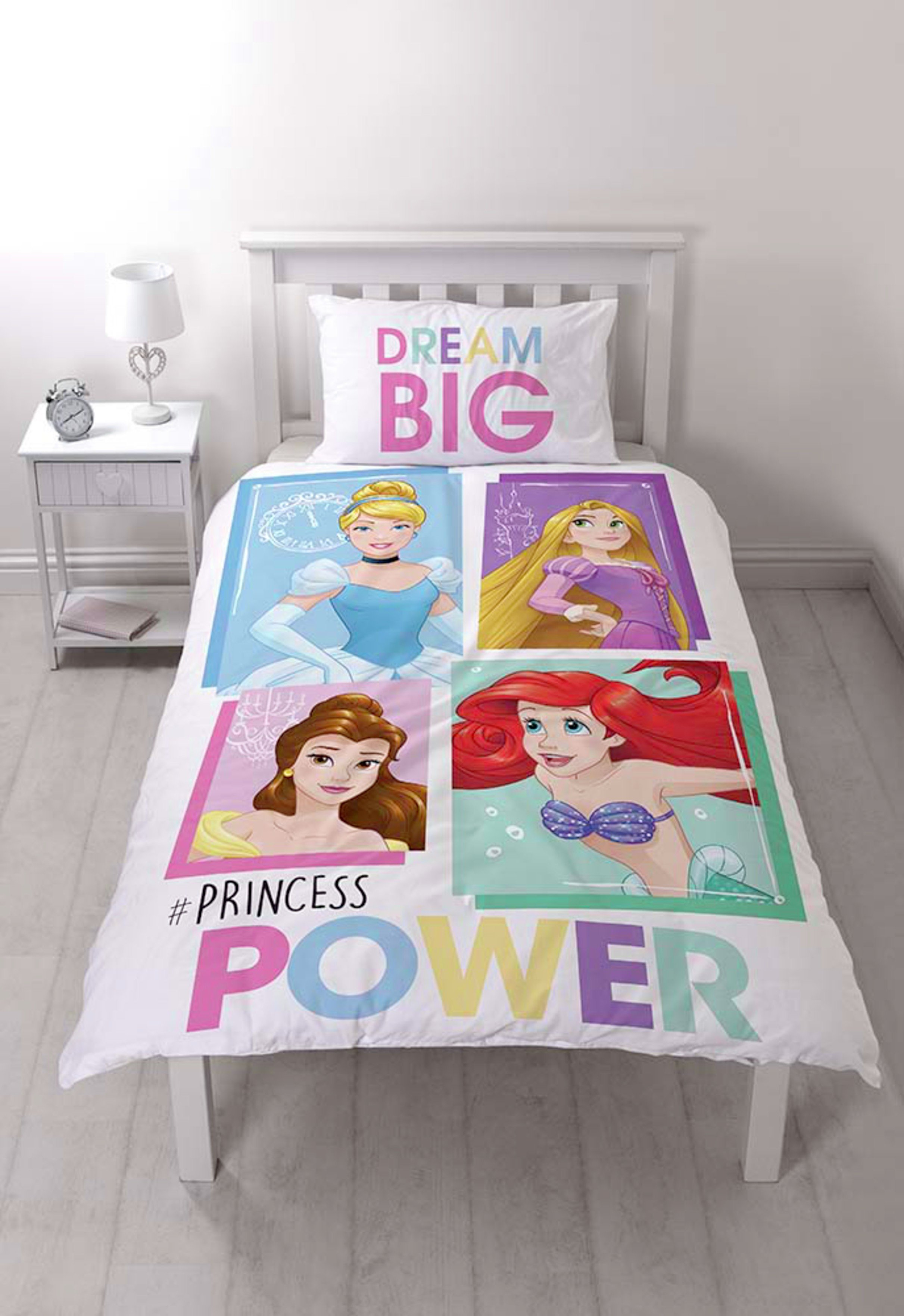 disney princess dream big panel bedding set  single
