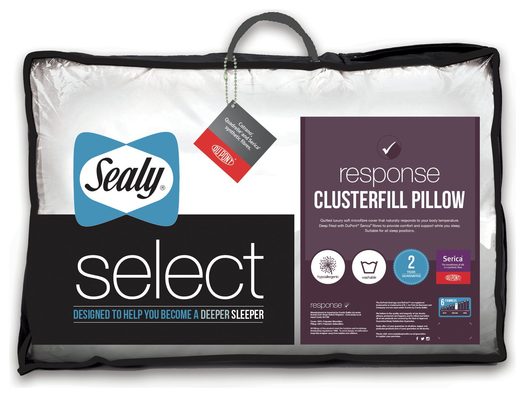 sealy clusterfill pillow.