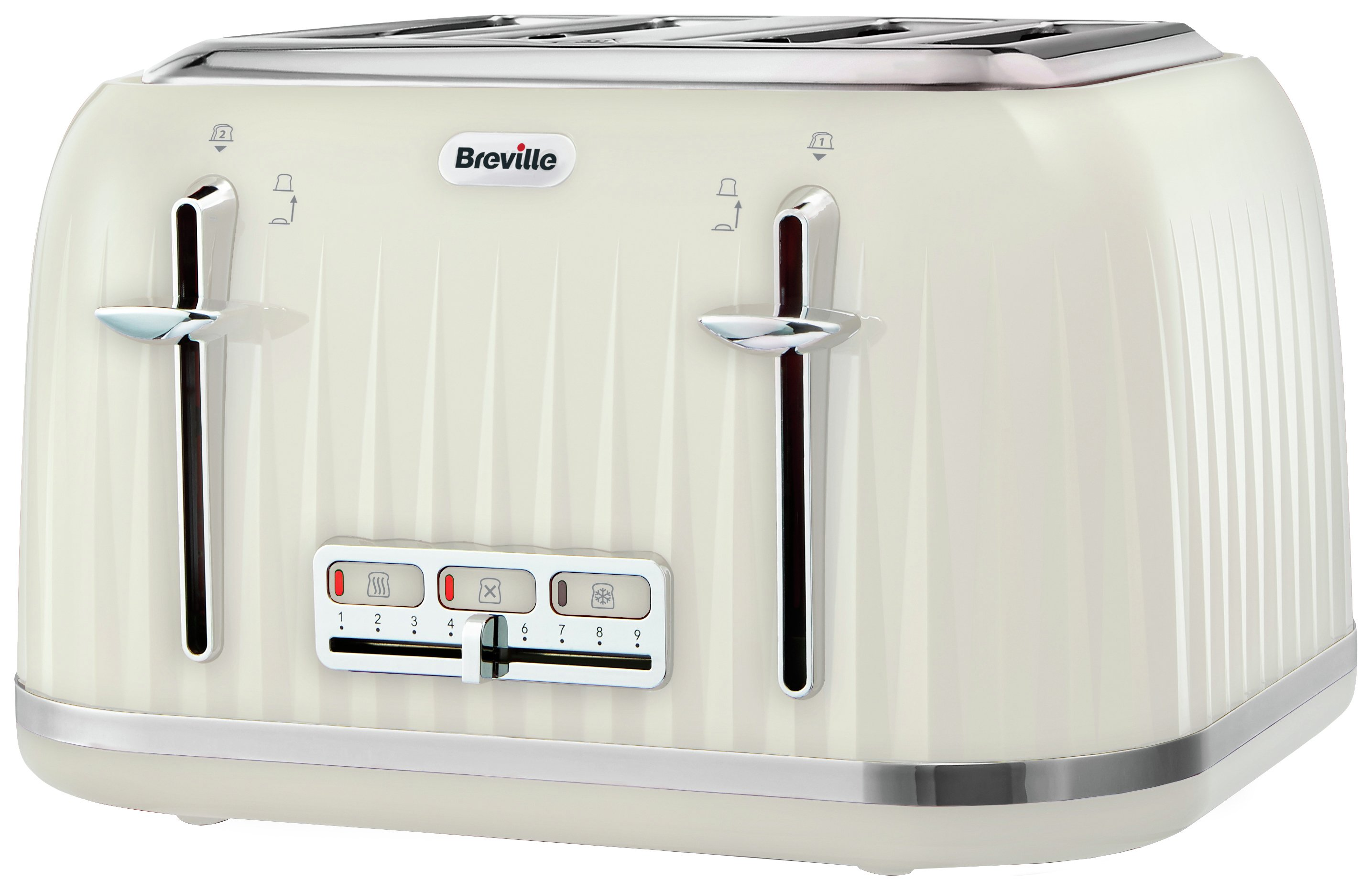 Image of Breville - Impressions 4 Slice Toaster - Cream