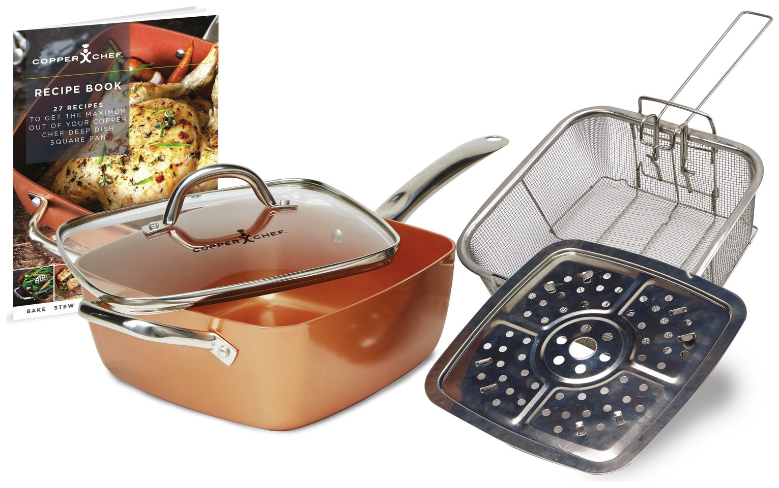 Copper Chef Deep Sided Square Pan - 5pc Set