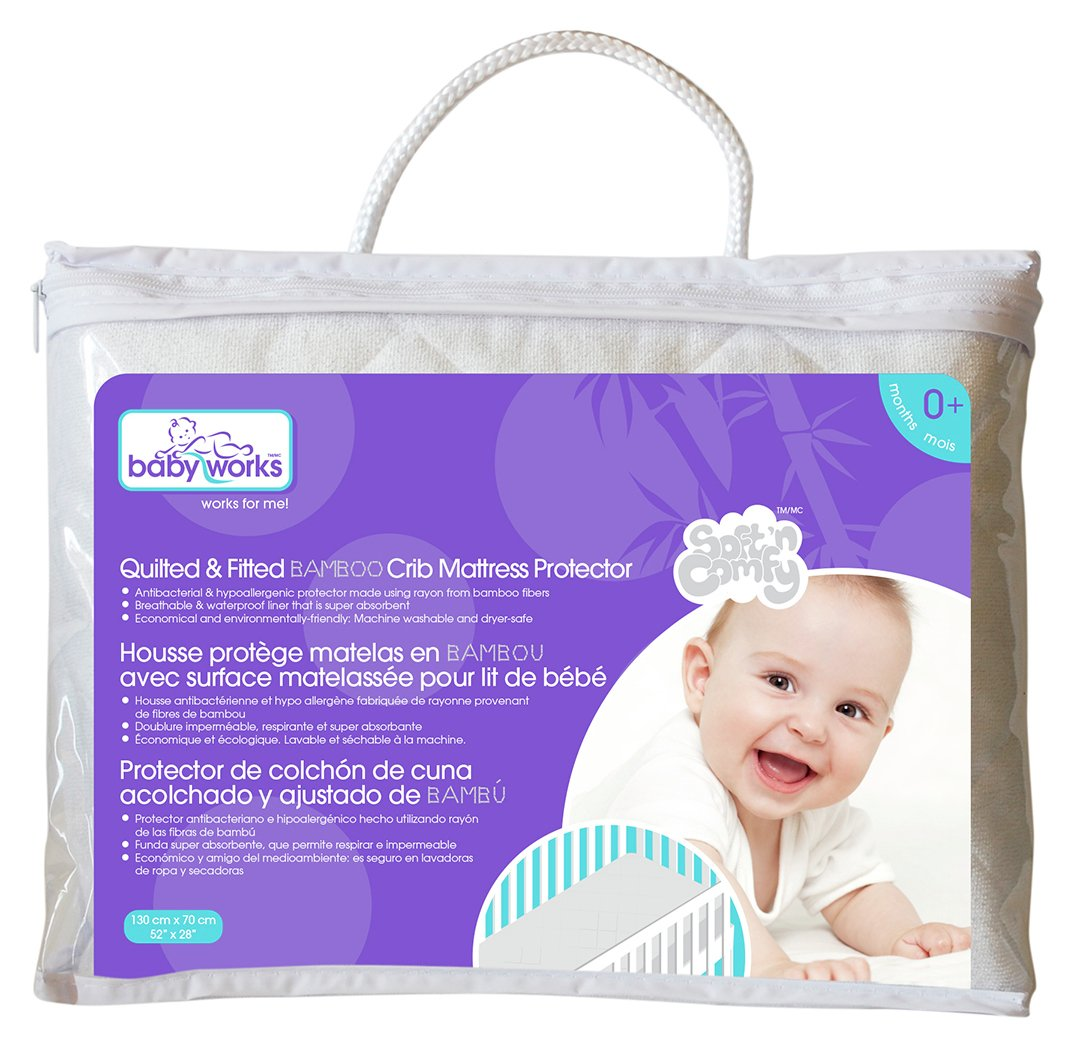 Image of Babyworks Crib Mattress Protector - Cream