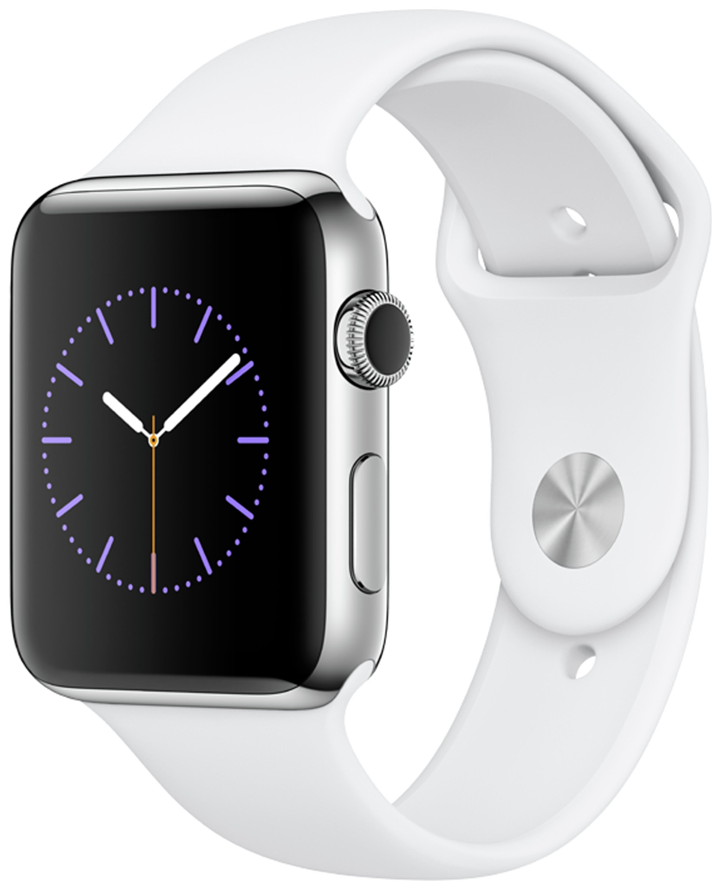 Apple Watch S2 42mm Stainless Steel White Sport Band. cheapest retail price