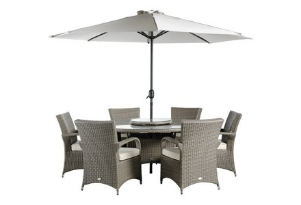 Image of the Collection Seychelles Round Rattan 6 Seater.