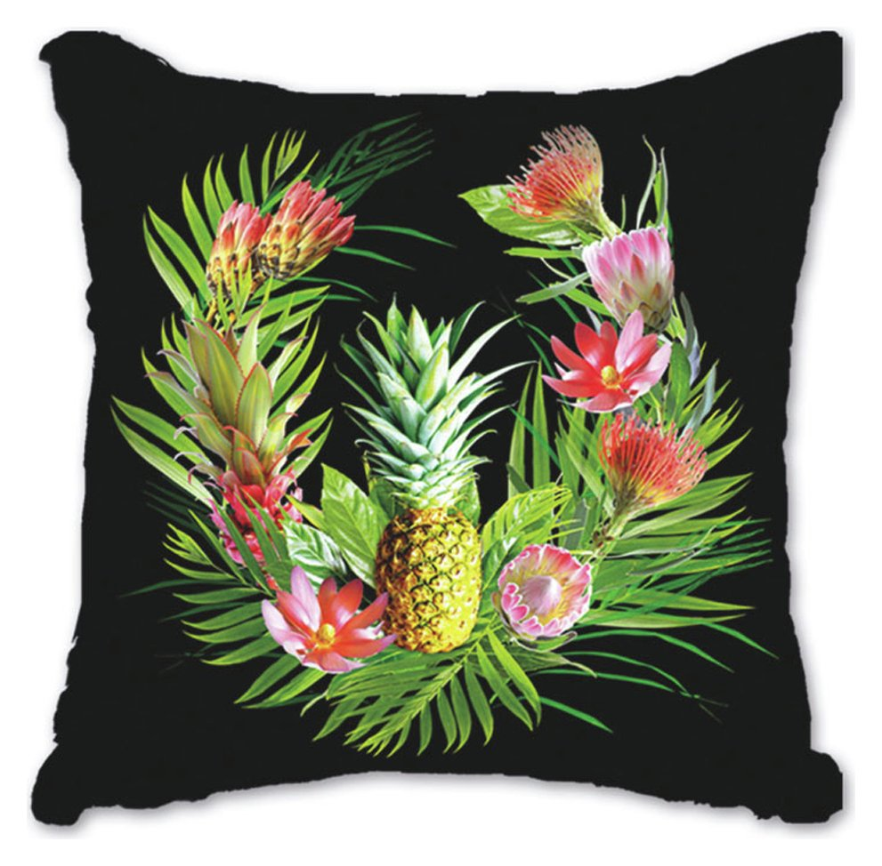 Image of Arthouse Tropics Amazonia Cushion - Black & Orange