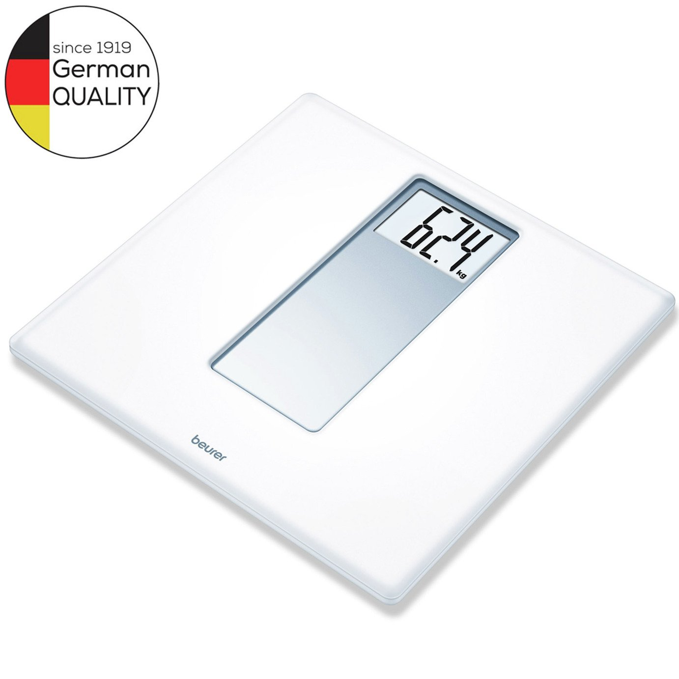 Beurer PS160 XXL Digits Acrylic Bathroom Scale - White