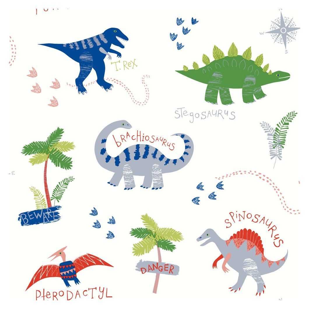 arthouse imagine fun dino doodles multi wallpaper.