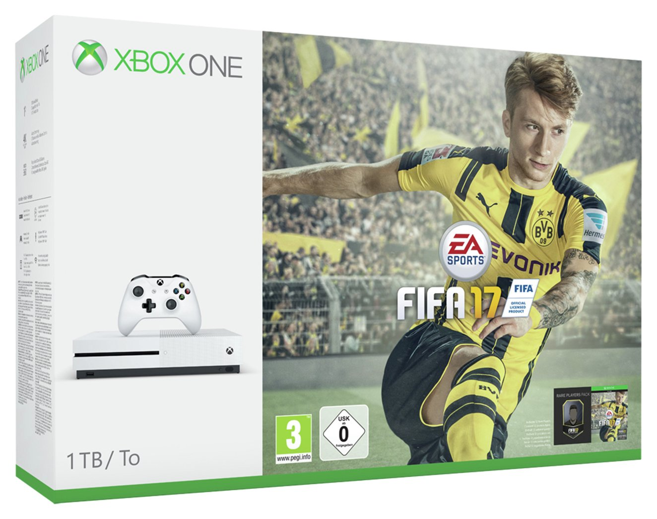 Xbox Console - One S- 1TB- with FIFA 17 Bundle.