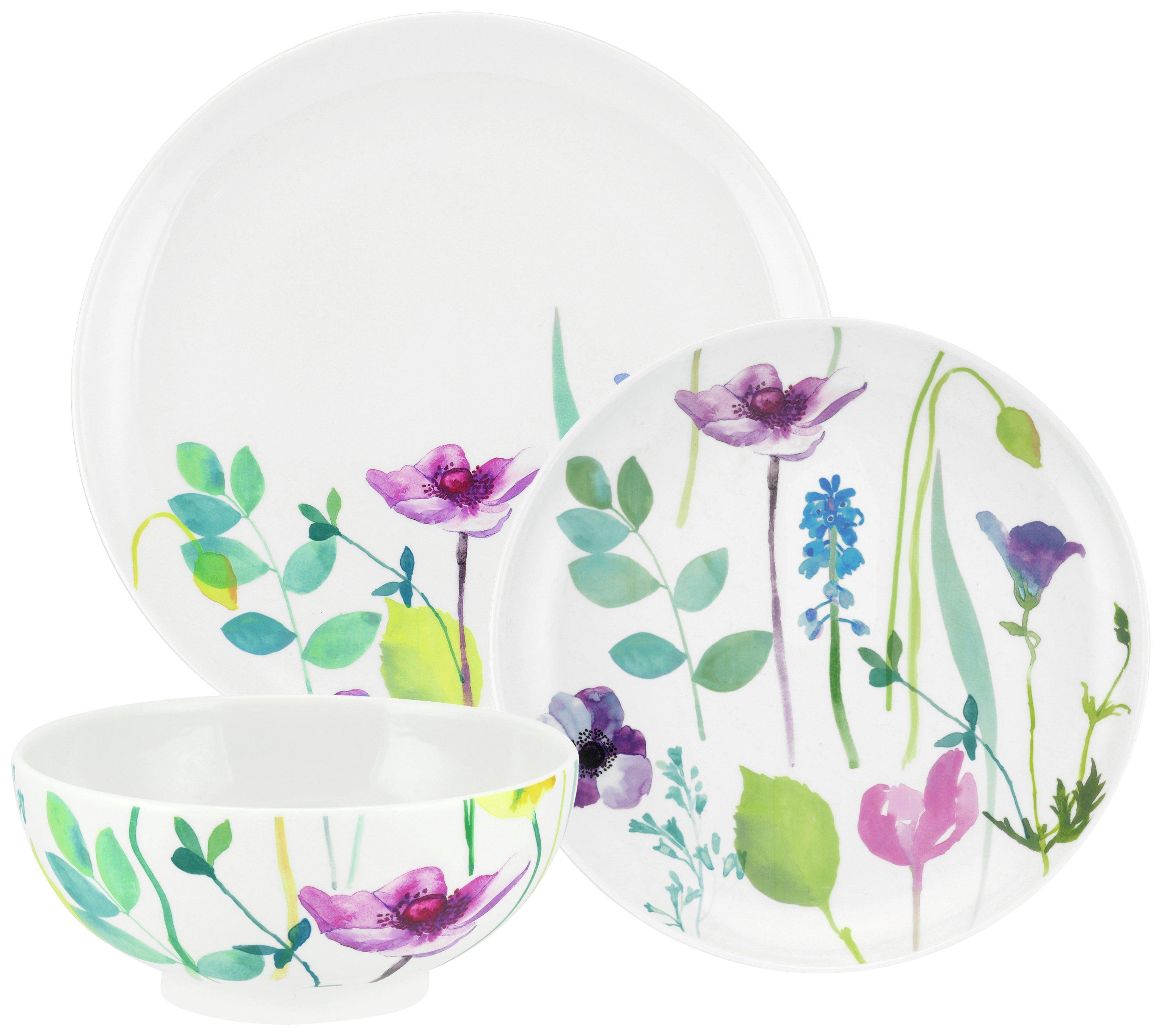 Portmeirion Water Garden 12 Piece Porcelain Dinner Set