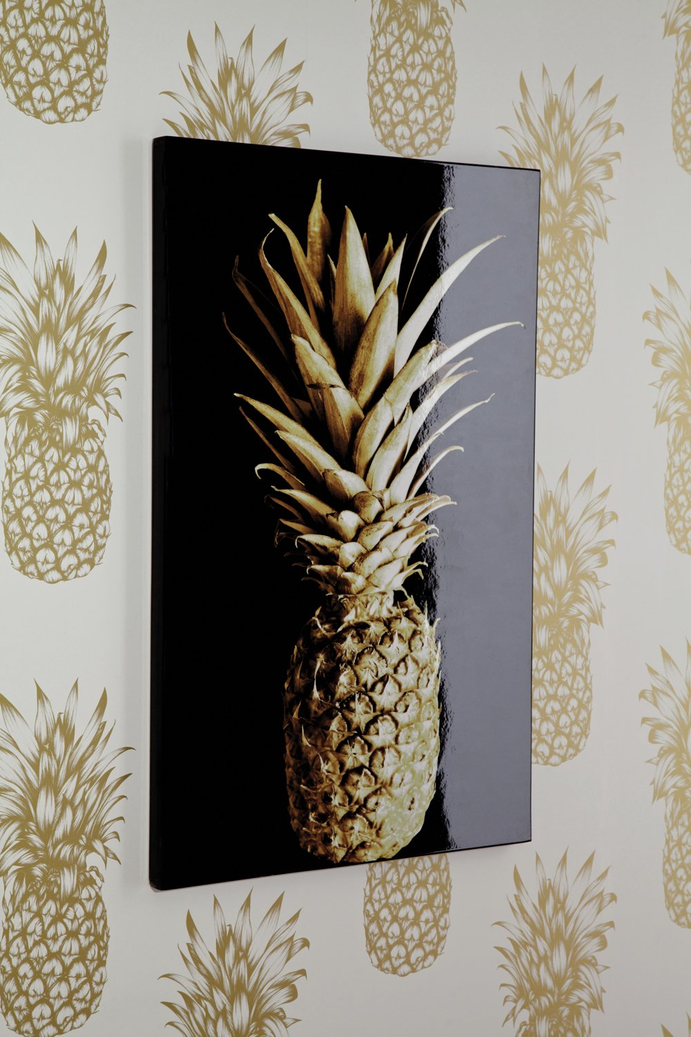 Image of Arthouse Tropics Copacabana Laquer Wall Art - Gold and Black
