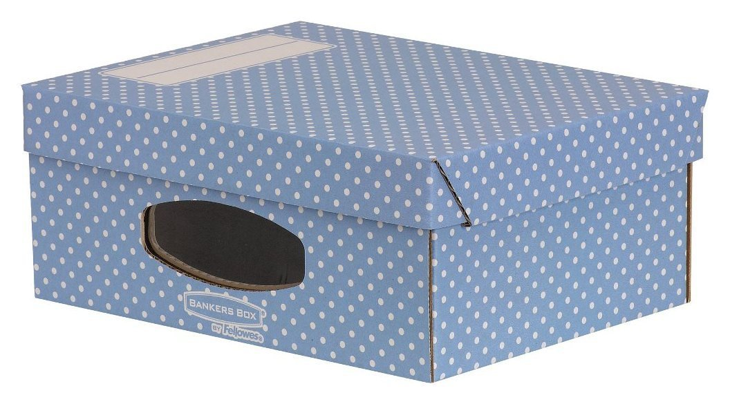 Image of Fellowes Bankers Box Style 4 Pack A4 Window Box - Blue.