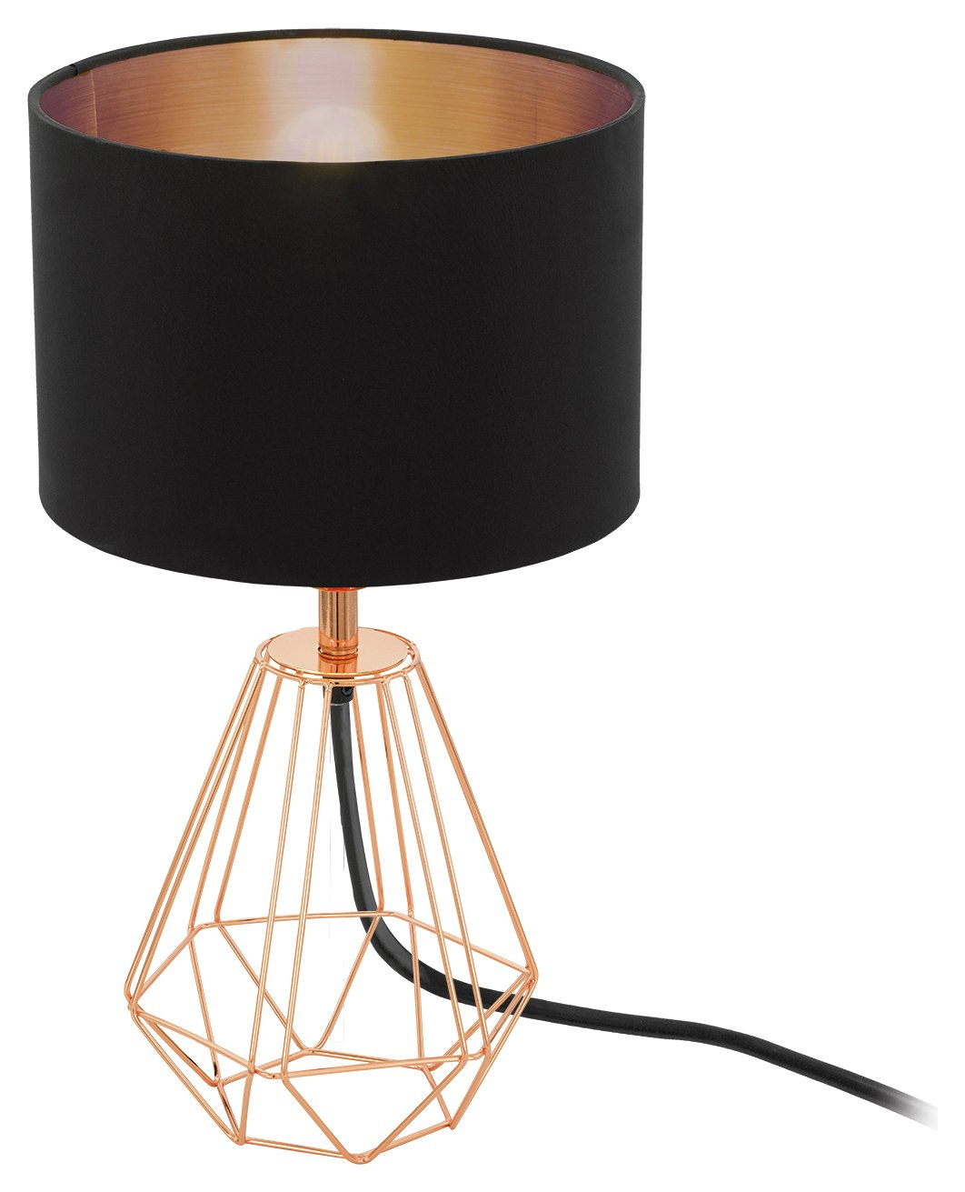 Eglo Carlton Vintage Table Lamp - Copper & Black