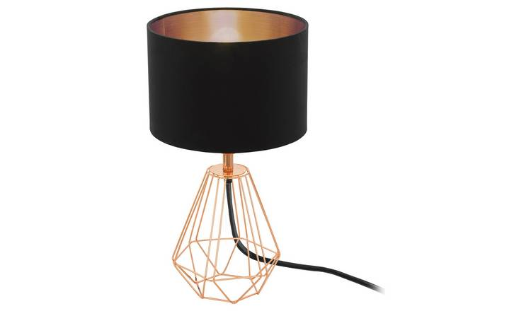Geliefde Buy Eglo Carlton Vintage Table Lamp - Black and Copper | Table #UD08