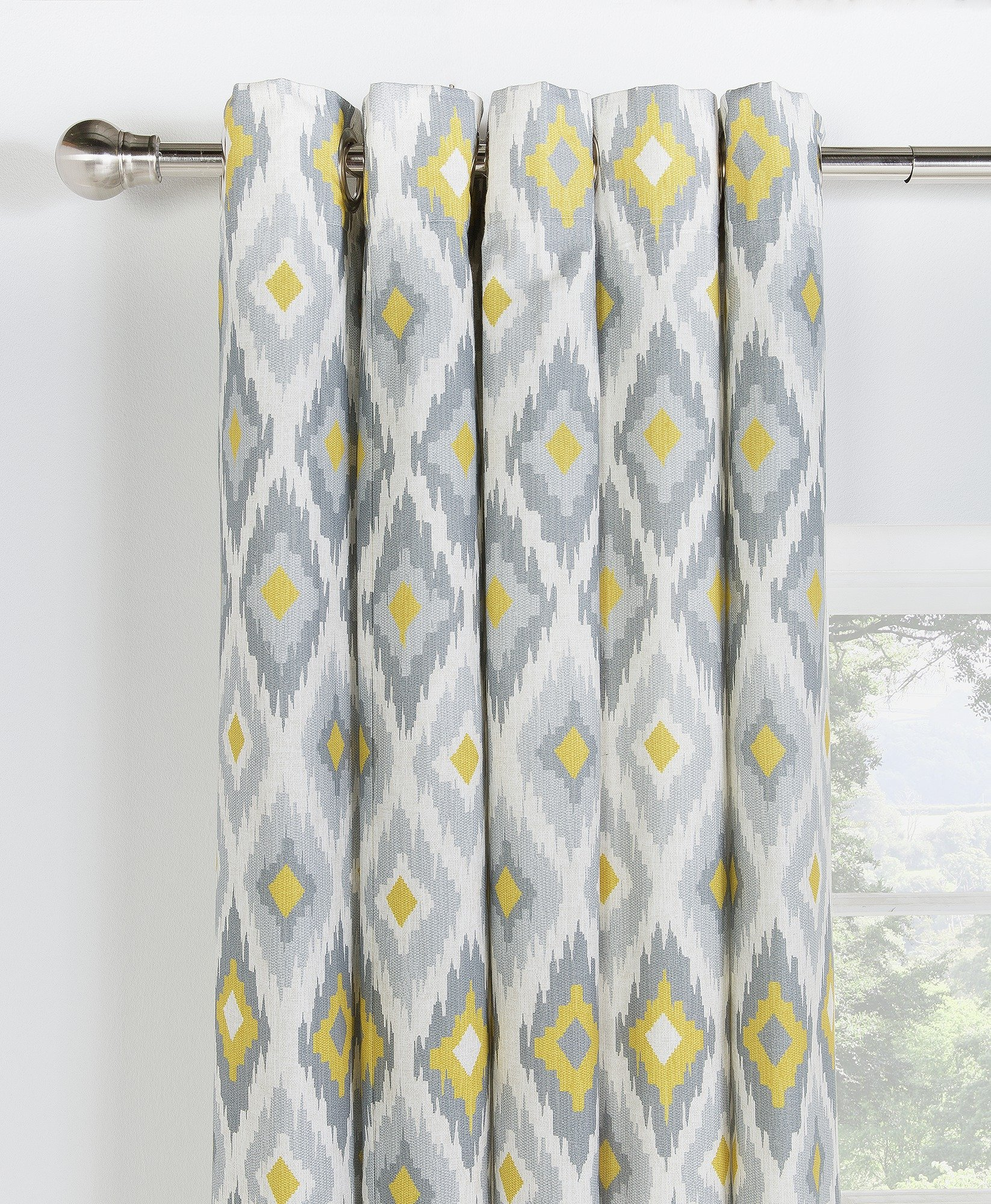 collection kali ikat lined eyelet curtains 168x183cm at