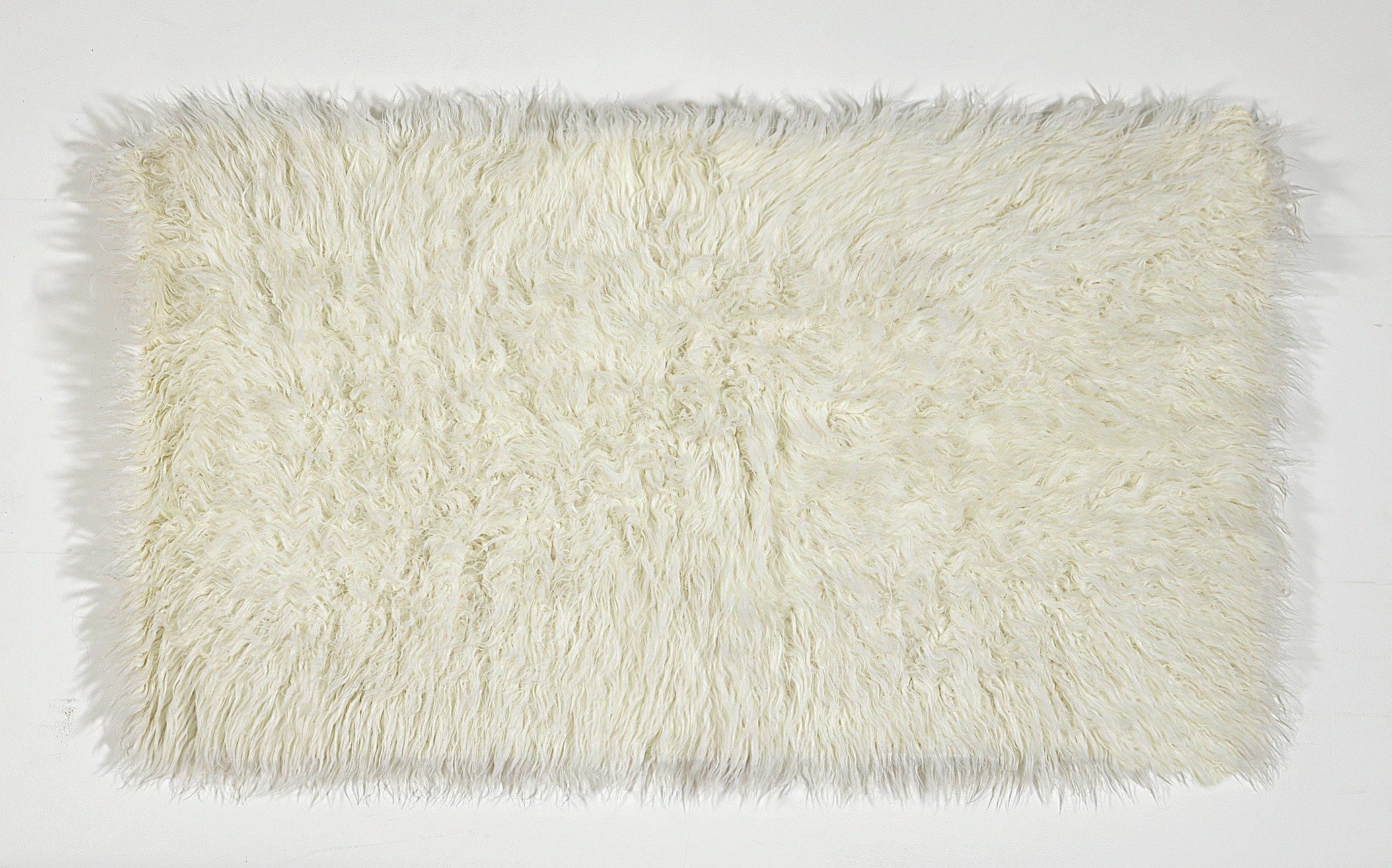 HOME Faux Flokati Rug - 90x150cm - Natural