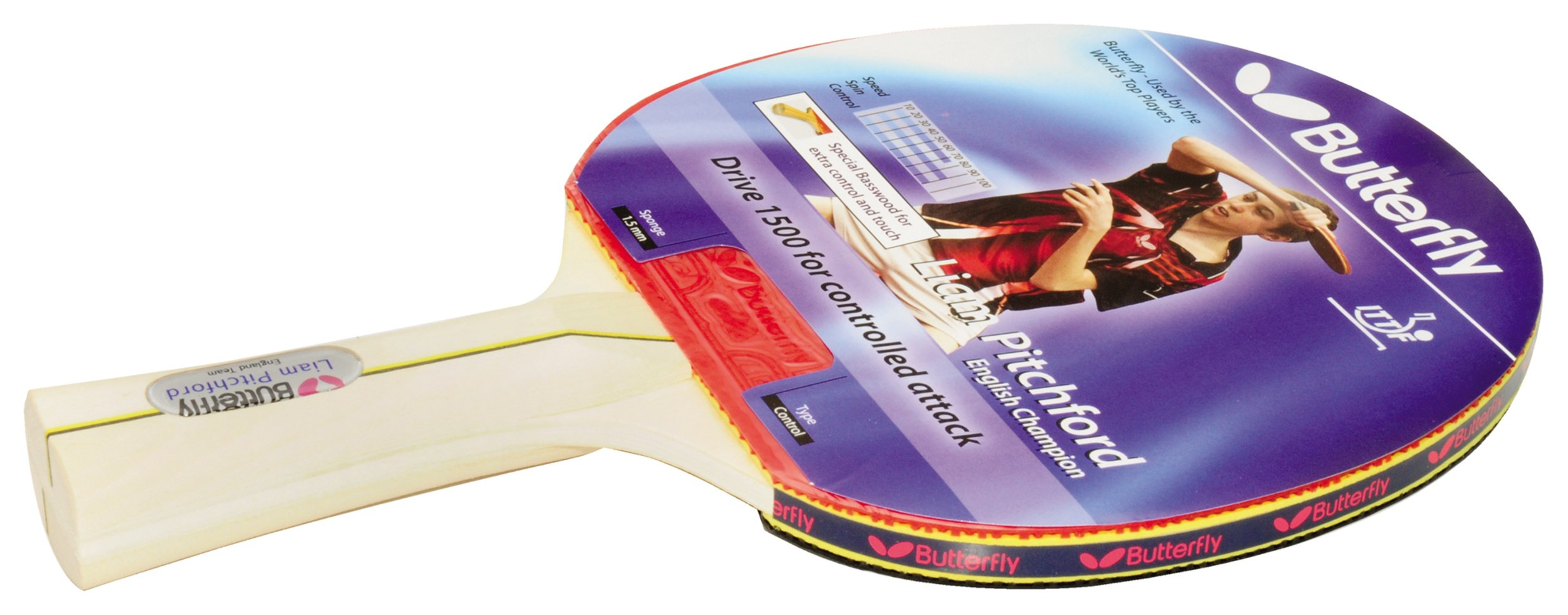 Image of Butterfly Liam Pitchford 1500 Table Tennis Bat