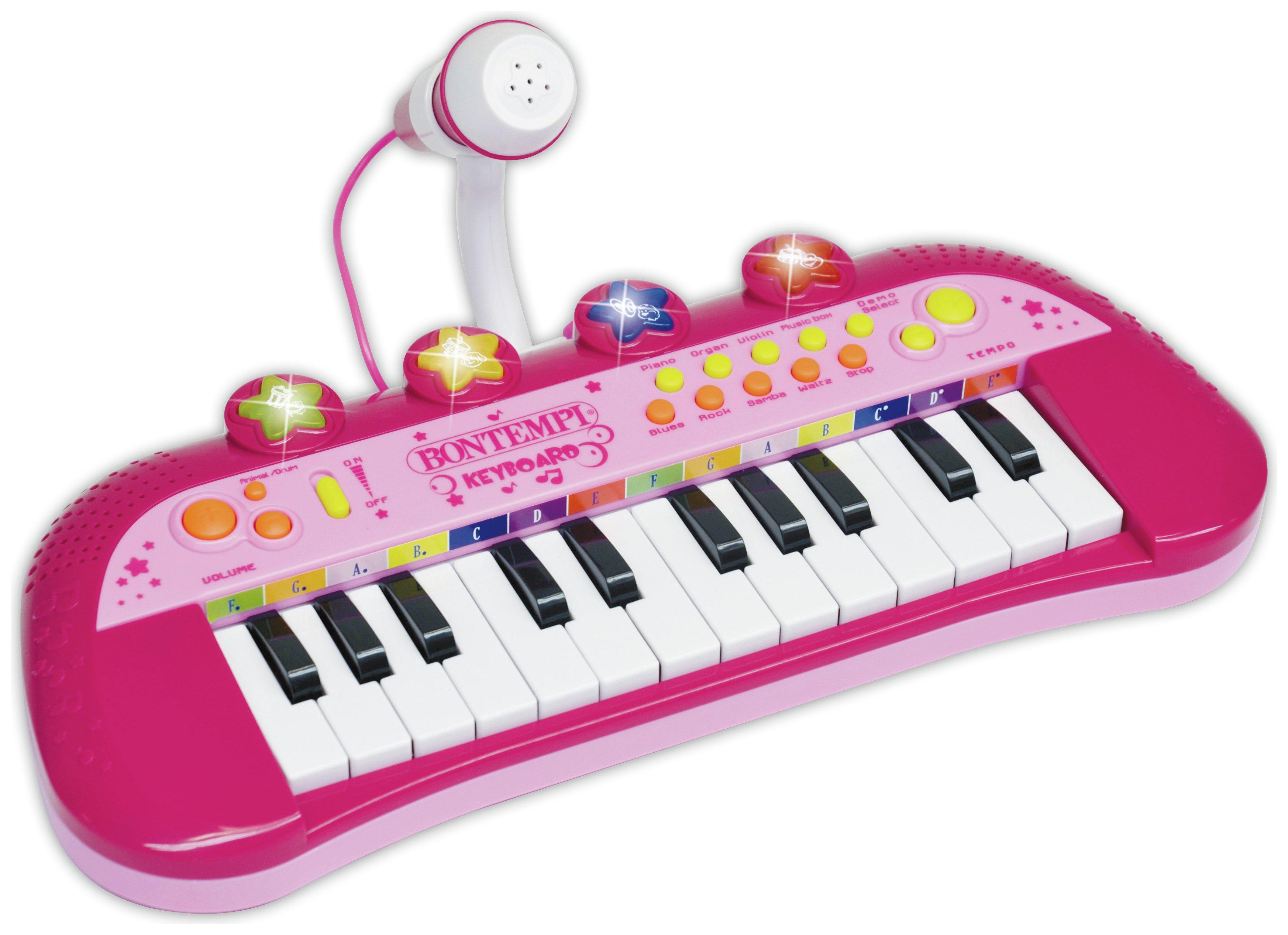 Image of Electronic Keyboard Mic Flashing Light.