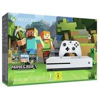 Xbox Console - One S - 500GB- Minecraft Favourites Bundle.