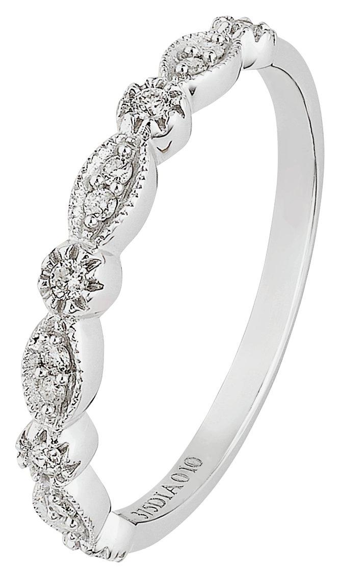 Buy Revere 9ct White Gold 0 10ct tw Diamond Eternity Ring at Argos