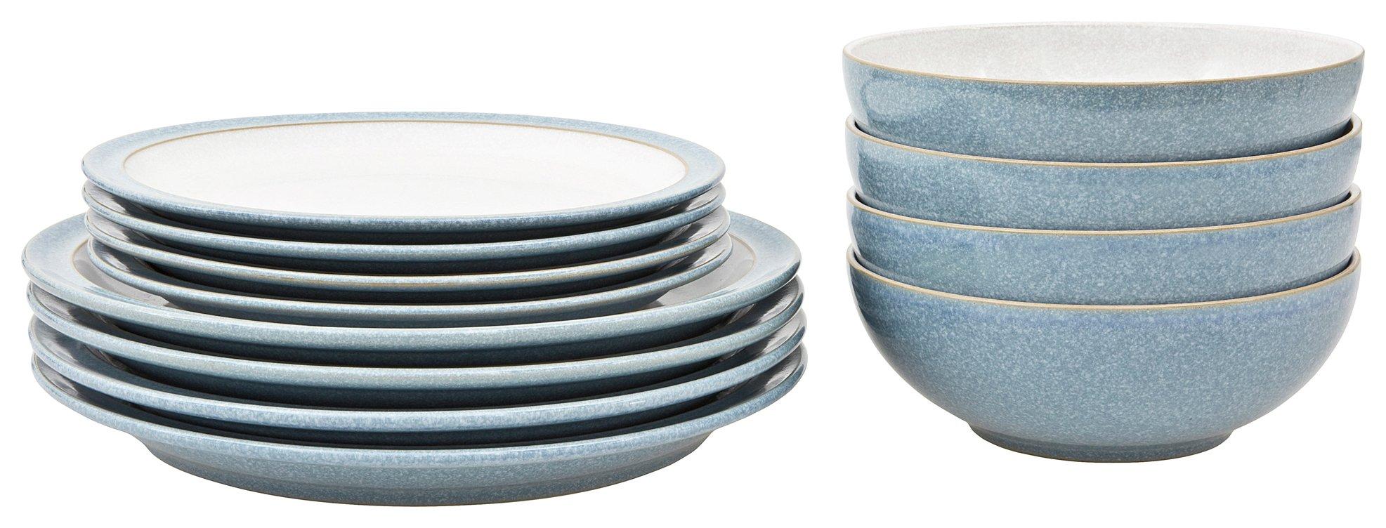 Denby Elements 12 Piece Ceramic Tableware - Blue