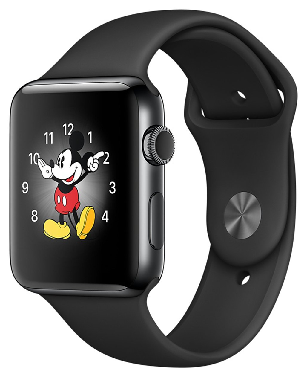 Apple Watch S2 38mm Space Black SSteel wSpace Black Band. cheapest retail price