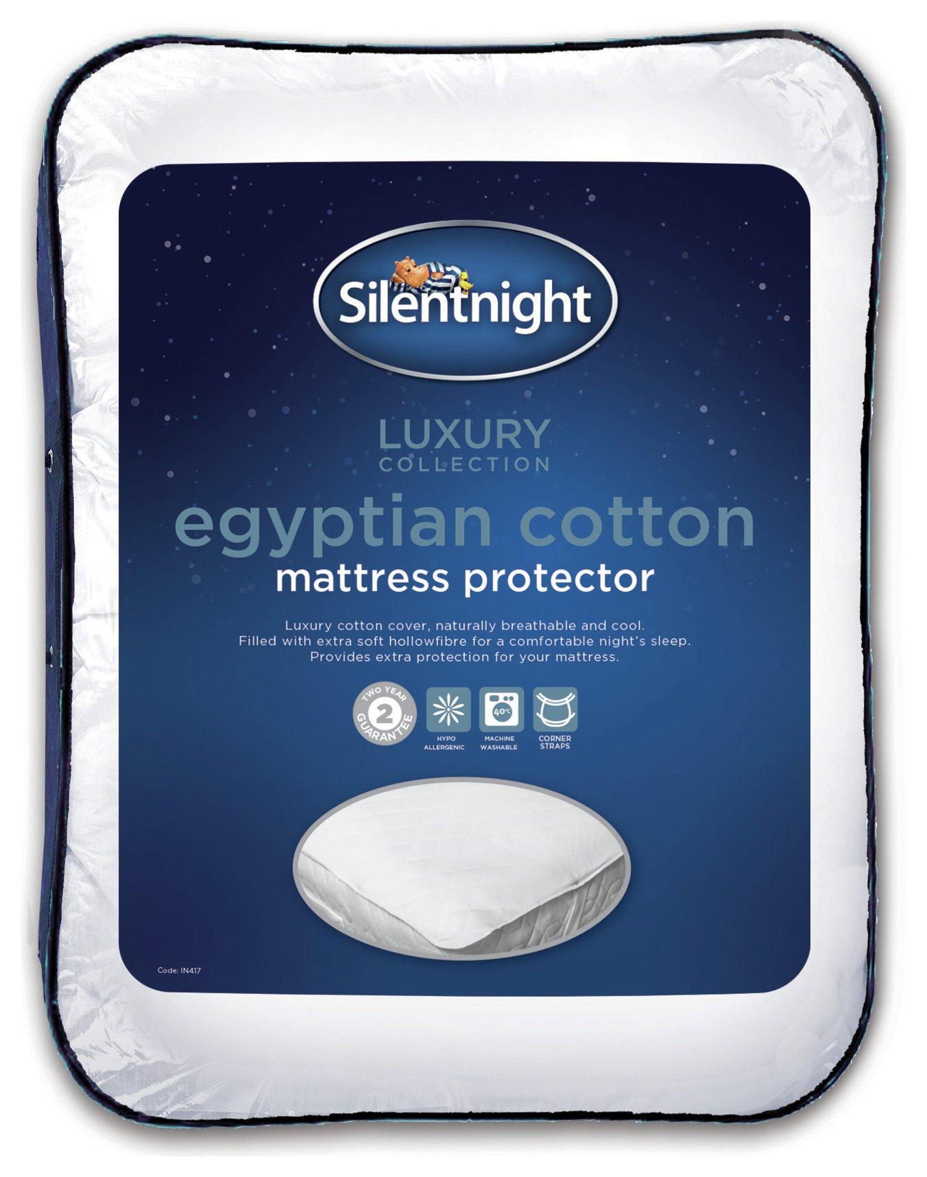 silentnight egyptian cotton mattress protector  single.