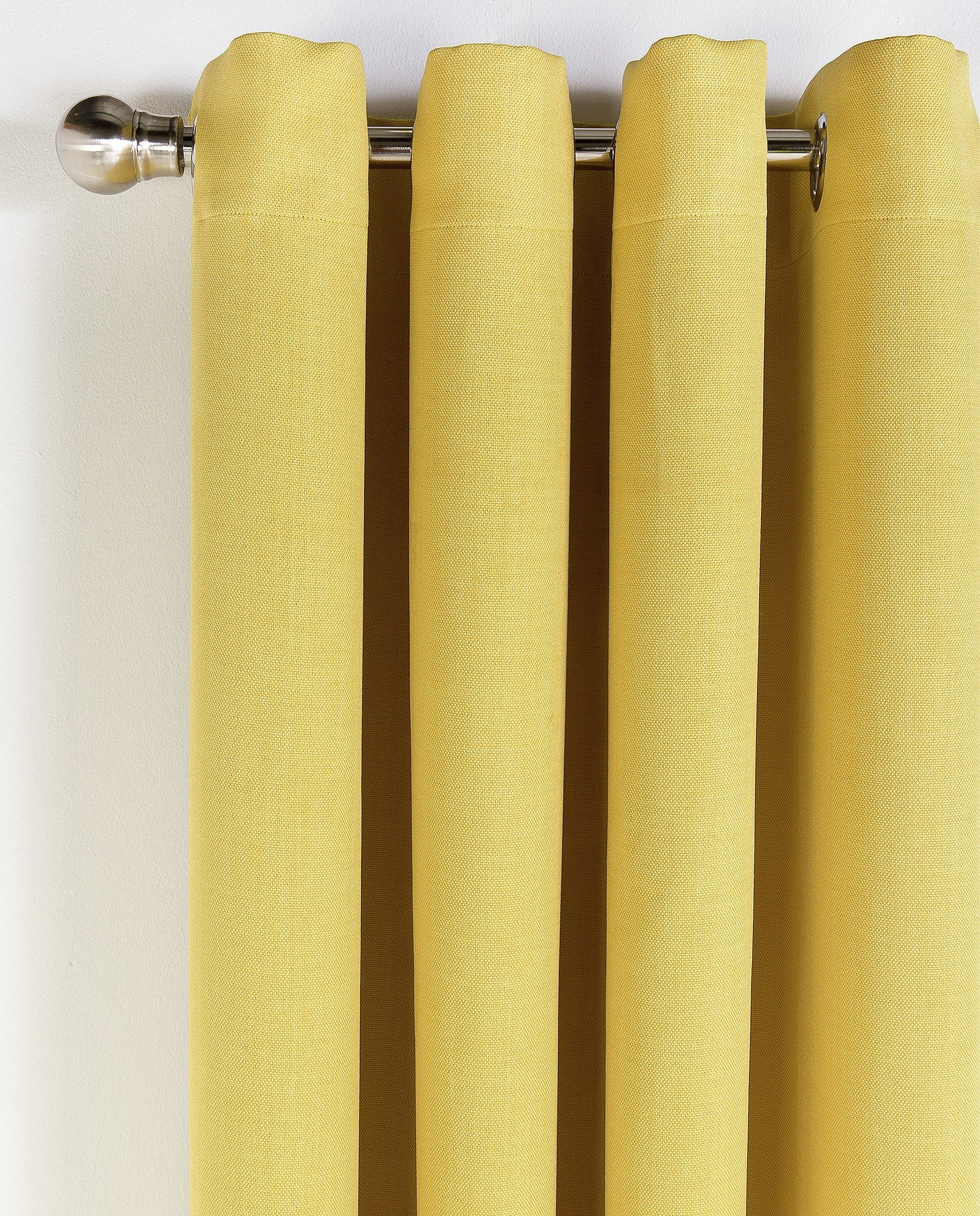 Collection Linen Look Blackout Curtains - 168x183cm - Ochre