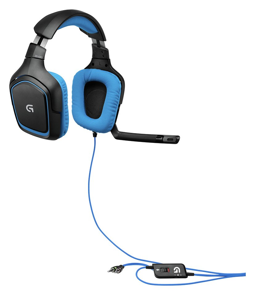 Click here for LOGITECH  G430 Gaming Headset - Black & Blue, Black prices