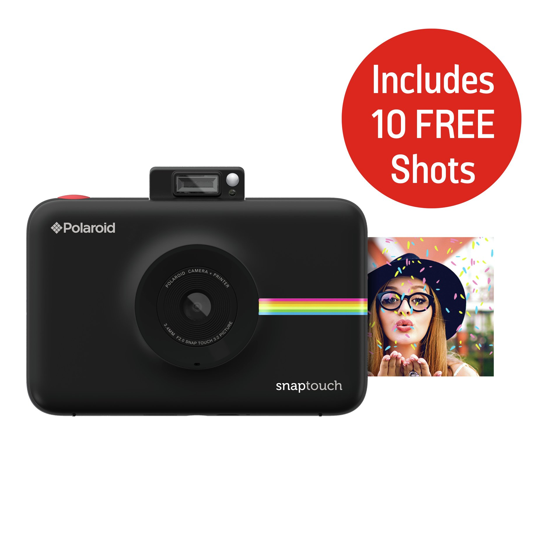 Polaroid SnapTouch Instant Print Camera with LCD Screen