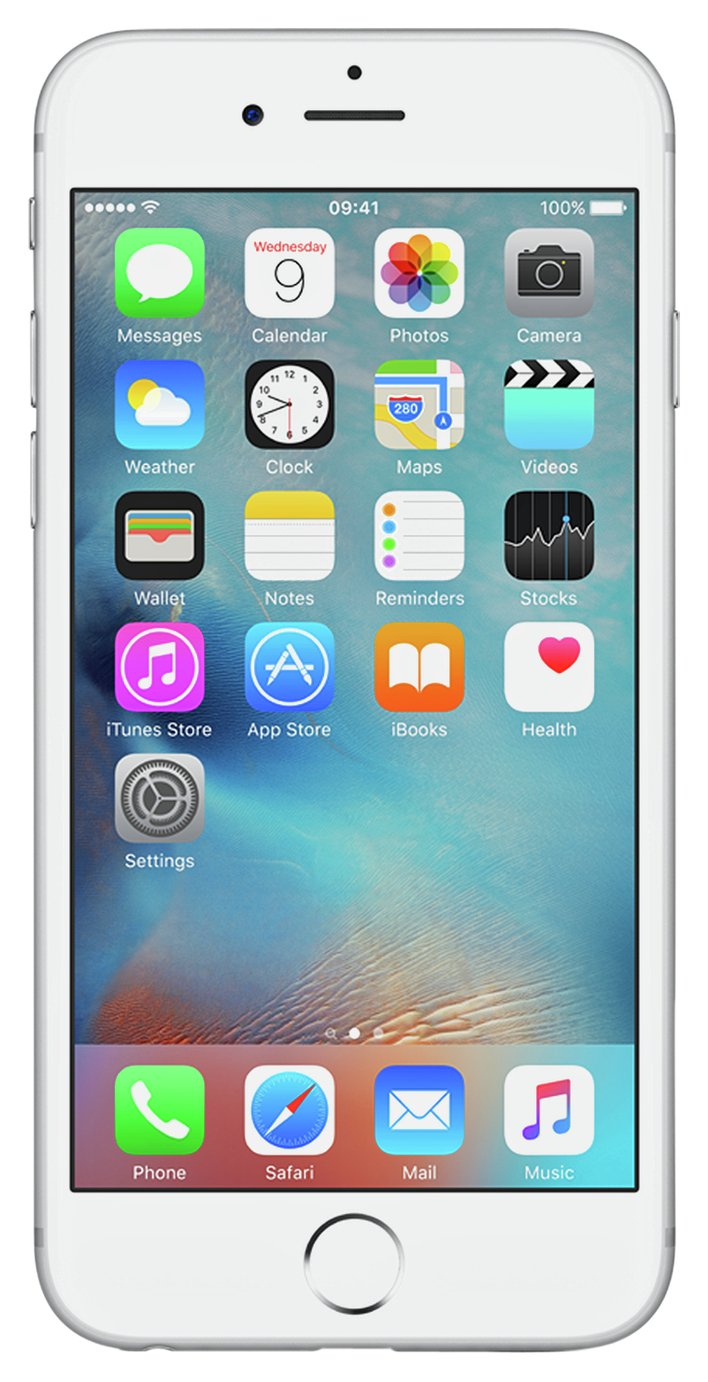 SIM Free iPhone 6s 128GB Mobile Phone - Silver