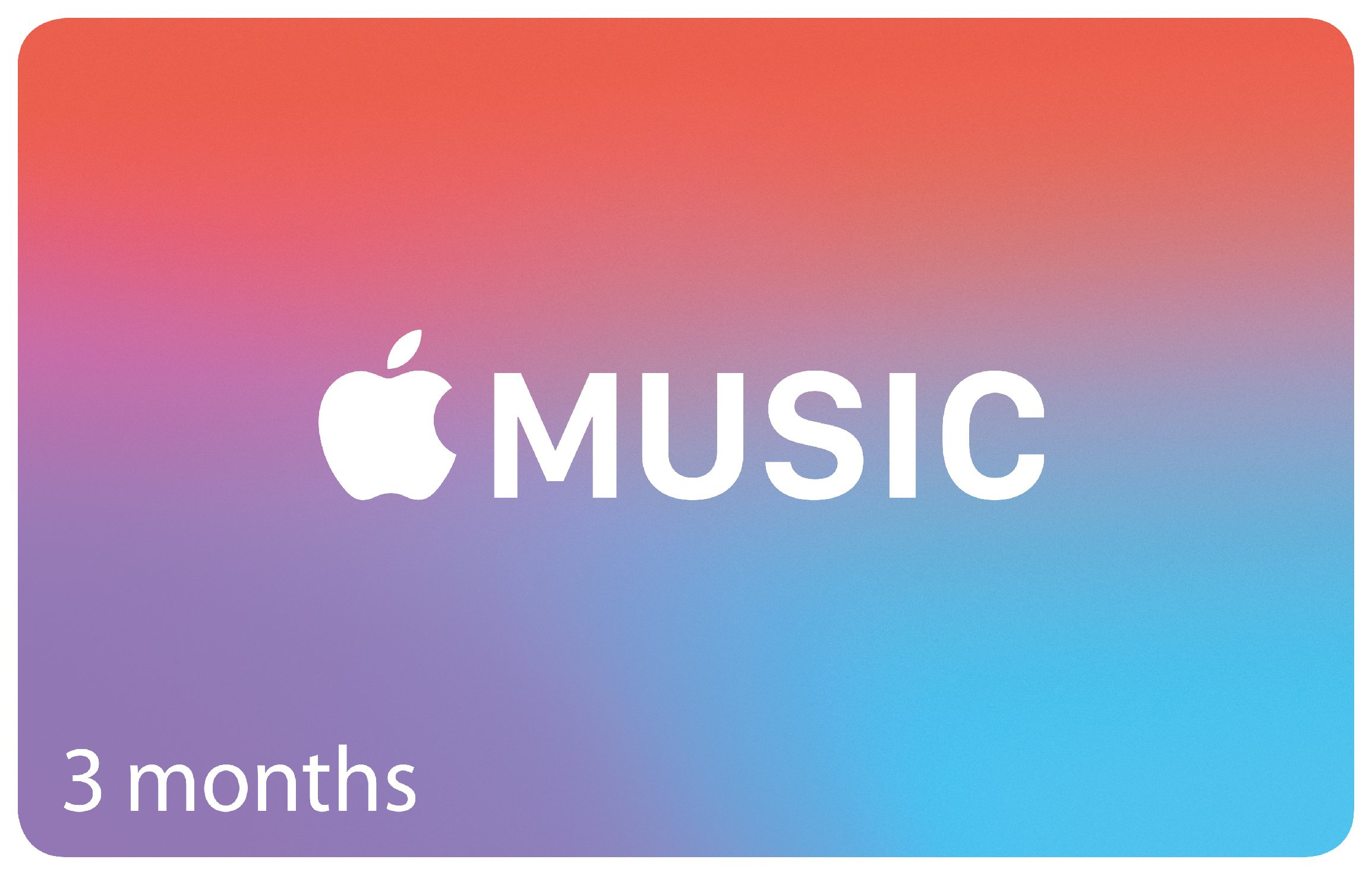 Apple - Music 3 Months Subscription Card