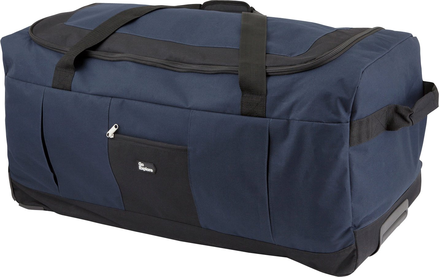 Image of Go Explore 80 Litre Large Wheeled Holdall - Navy