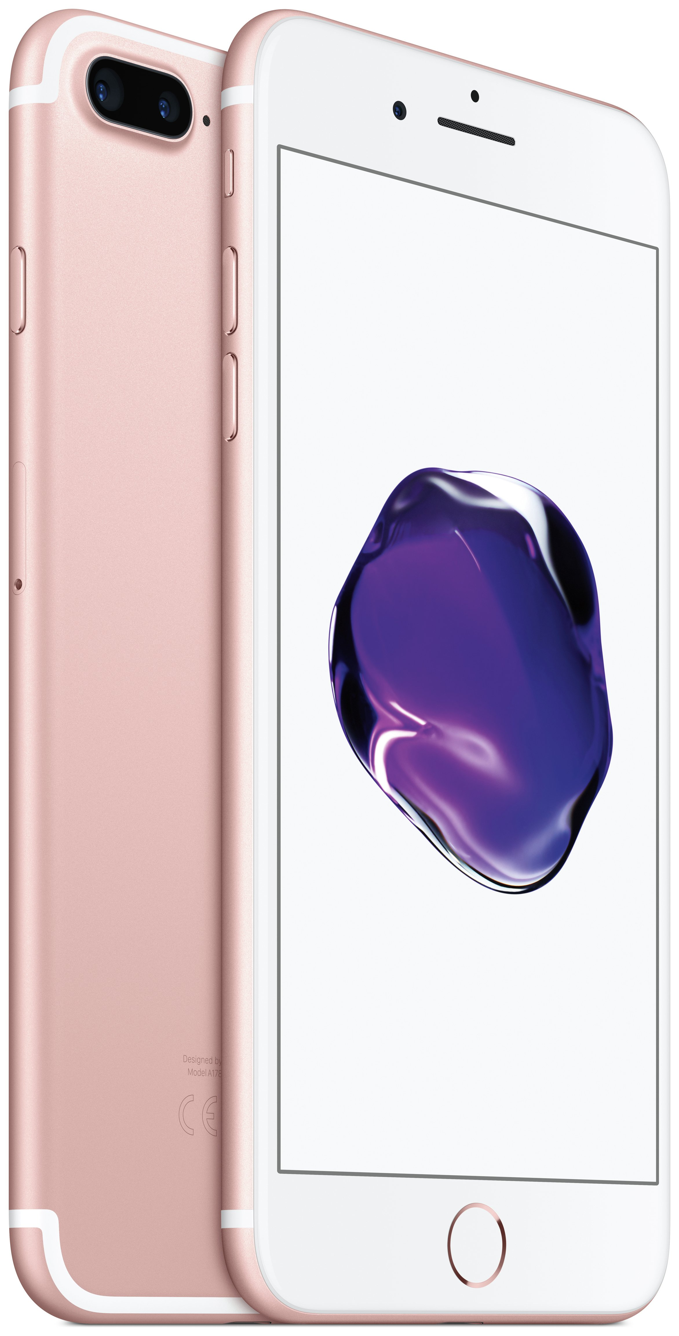 Apple Sim Free iPhone 7 Plus 128GB Mobile Phone - Rose Gold.