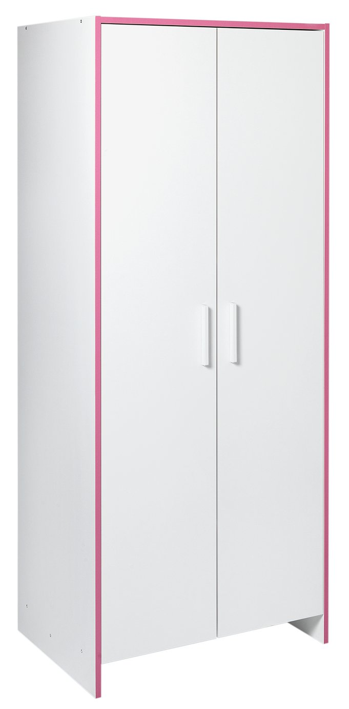 home  newport 2 door wardrobe  pink