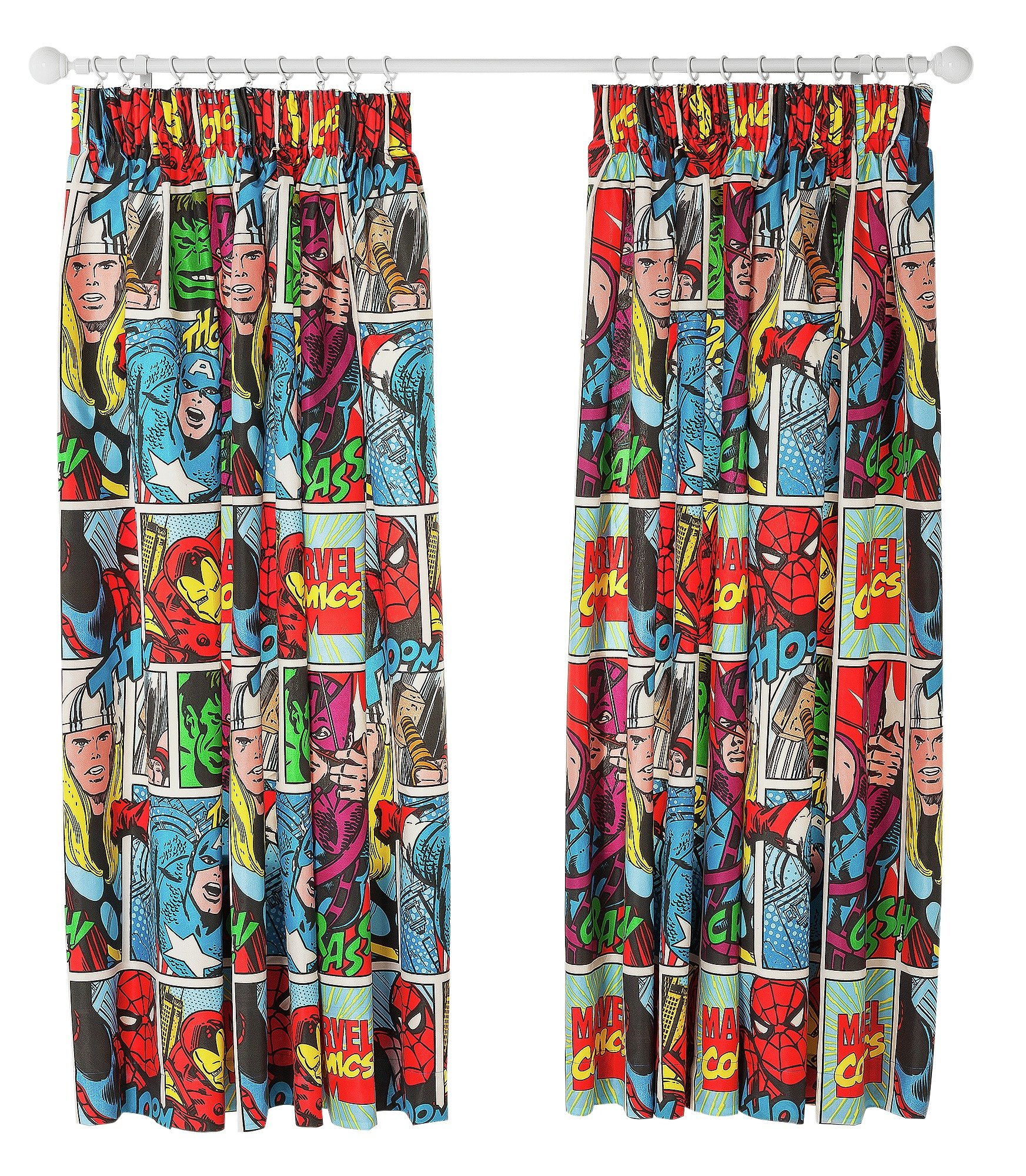 Marvel Comics Strike Curtains   137x168cm