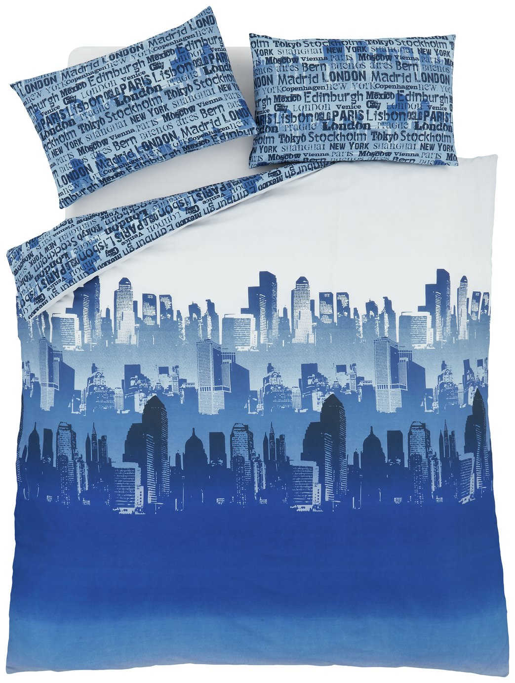 catherine lansfield city scape bedding set  single