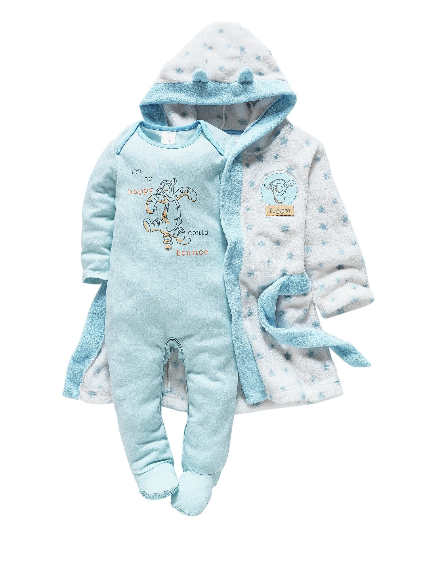 Image of Tigger - Baby Blue Gown and Pyjama Set - 6-9 Months
