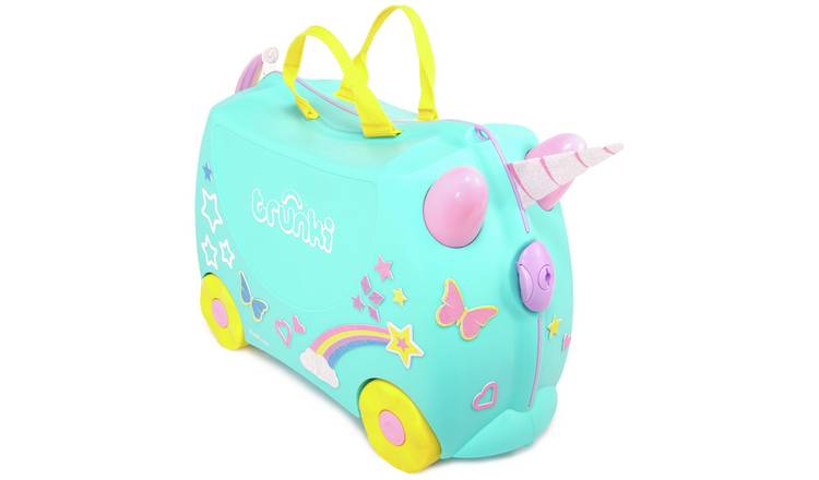 Trunki Una Unicorn 4 Wheel Hard Ride On Suitcase - Turquoise