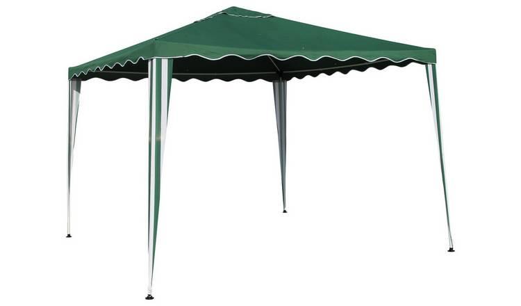 uk availability 6b3e4 0bd0a Buy Argos Home 3m x 3m Garden Gazebo - Green   Gazebos, marquees and  awnings   Argos