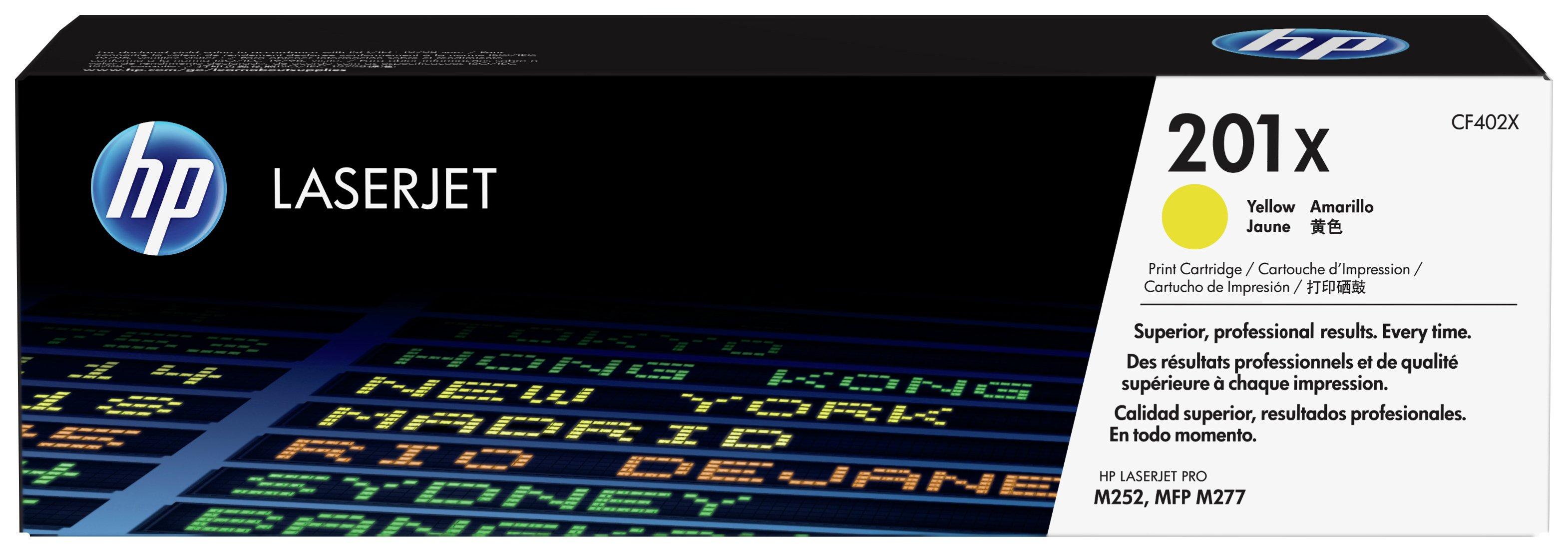 HP - 201X High Yield Yellow LaserJet - Toner Cartridge (CF402X)