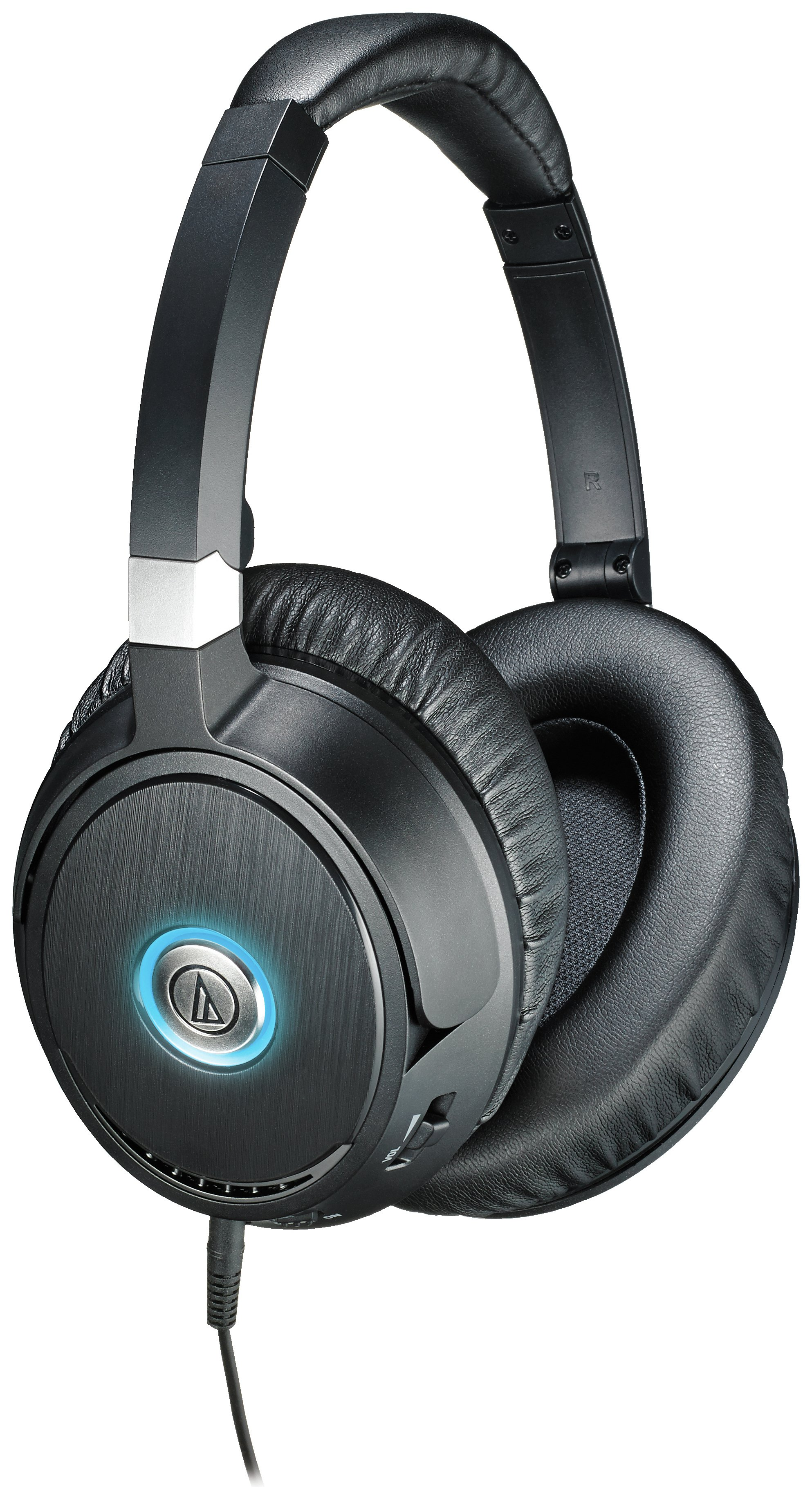 Image of Audio Technica ATH-ANC70 NC On-Ear Headphones - Black.