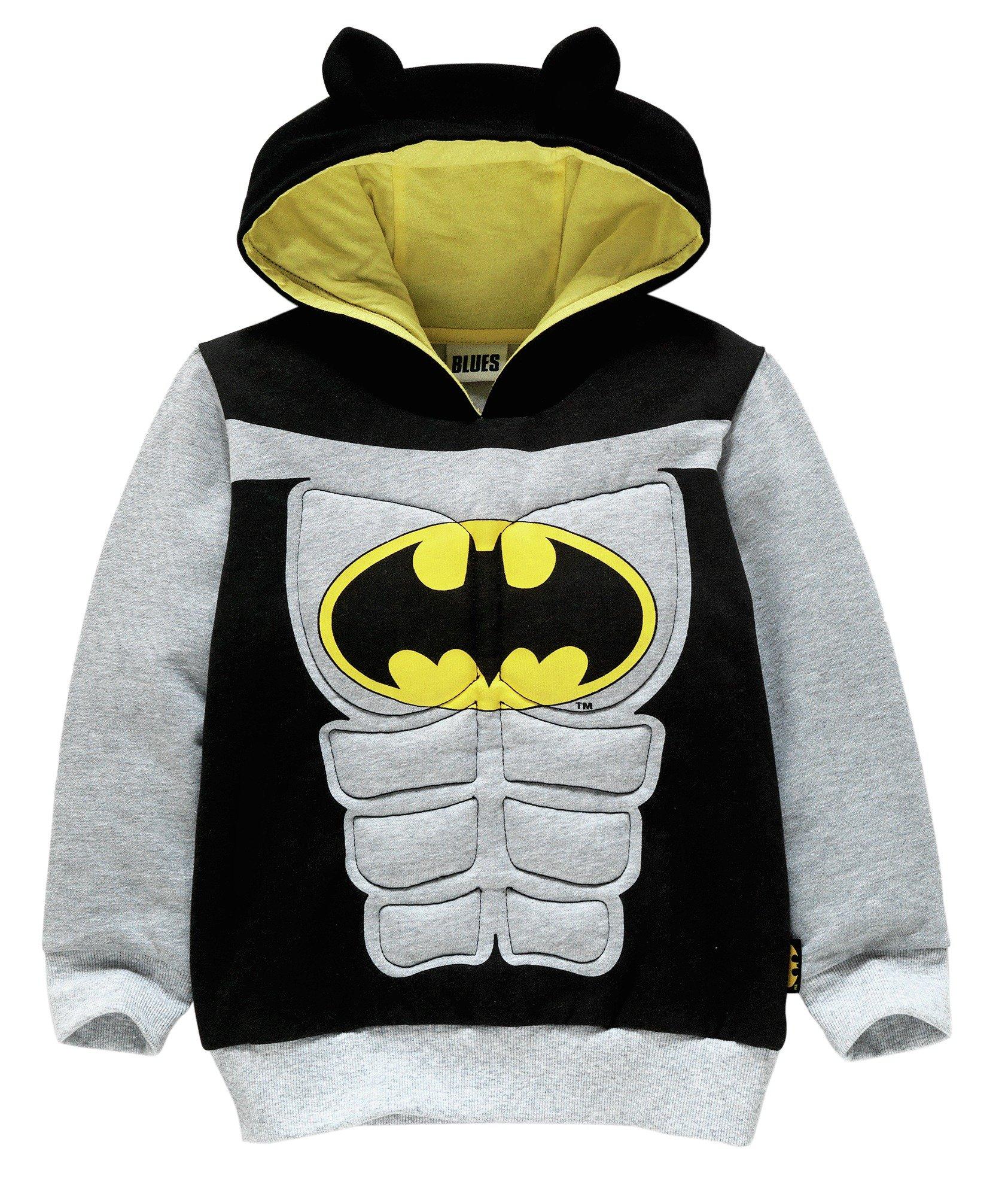 Image of Batman - Boys Muscle Hoodie - 2-3 Years