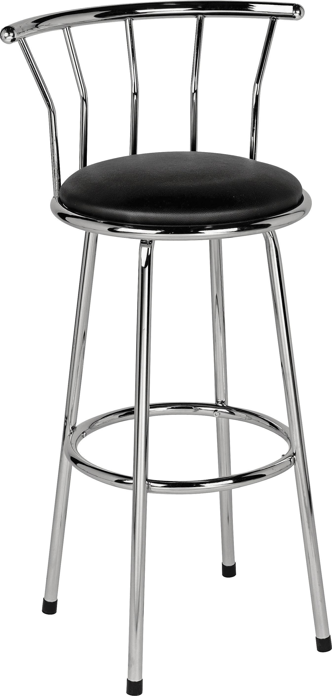 HOME Gemini Leather Effect Bar Stool - Black  sc 1 st  Argos : bar stool black leather - islam-shia.org