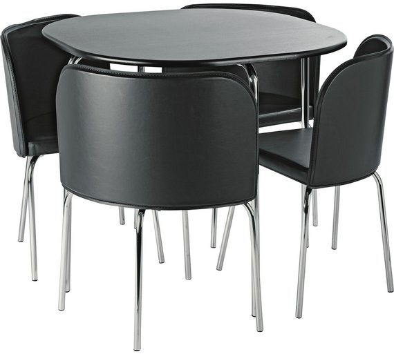 Buy Hygena Amparo Dining Table & 4 Chairs - Black at Argos.co.uk ...