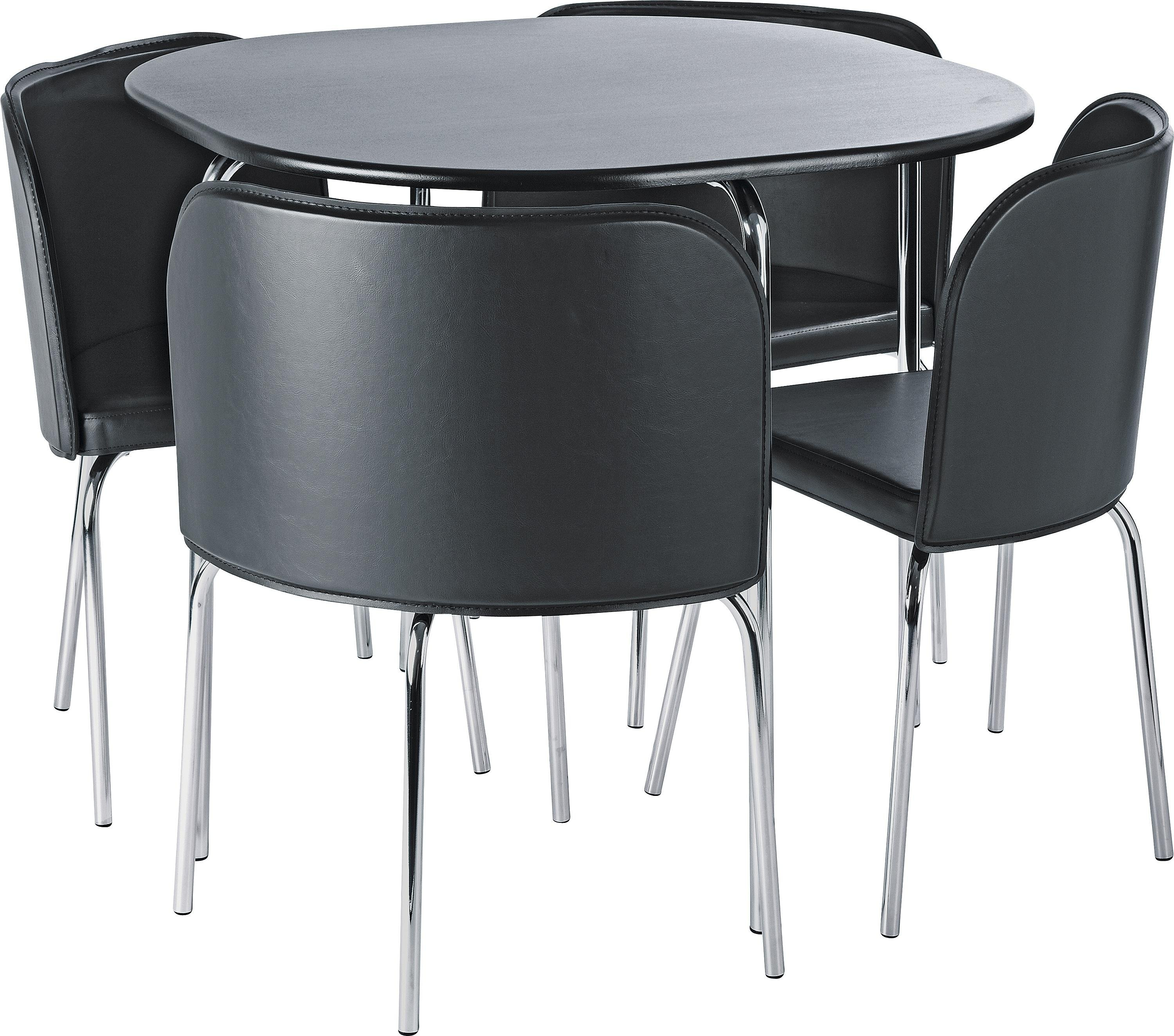 Buy Hygena Amparo Dining Table and 4 Chairs Black at  : 6001443RZ001AUC907370Webampw570amph513 from www.argos.co.uk size 570 x 513 jpeg 31kB