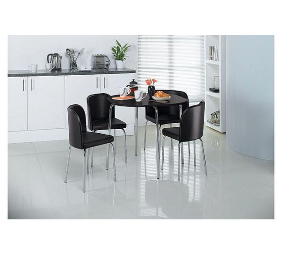 Argos Hygena Dining Table And Chairs: Buy Hygena Amparo Dining Table & 4 Chairs - Black