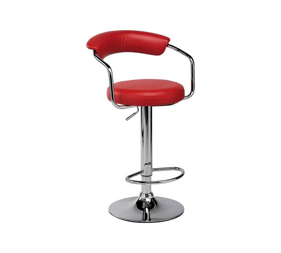 Buy Collection Executive Gas Lift Bar Stool Red At Argos