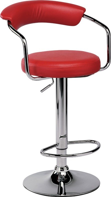 Image of Collection Executive Gas Lift Bar Stool with Back Rest - Red