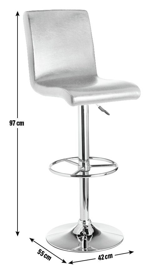 Image of Collection Turner Leather Effect Seated Bar Stool - Black