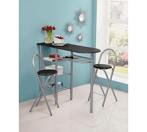 Kitchen Shelf Argos: Buy HOME Amelia Breakfast Bar & 2 Chairs - Black